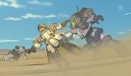 Arata battling with Jenock DC Offenser HQ
