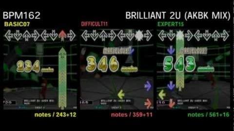 DDR X3 BRILLIANT 2U (AKBK MIX) - DOUBLE