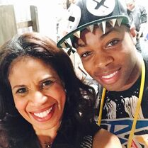 Holly with Todrick 2015-02-04