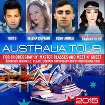 Kamryn touring with Tokyo in Australia 2015