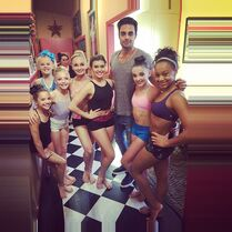 Interesting group on set - therealabbylee 2014-11-19