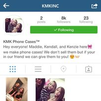 Kendall Mackenzie Maddie phone case team 2015-05-11 - posted by Kendall
