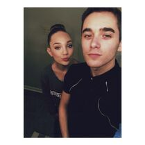 Maddie with Nick for recital June2015