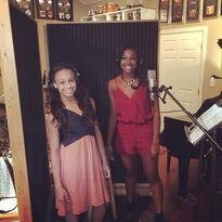 Nia Frazier recording with Coco Jones - 13May2015