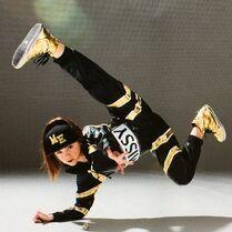 Kaycee Rice in MissyElliott costume