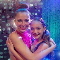 Maddie Ziegler with Gianna Newborg AUDC