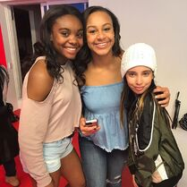 724 Camryn and Nia on set