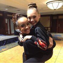 Kaeli Ware and Maddie Ziegler