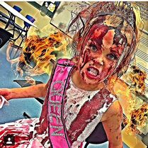 JoJo bloody prom queen with fire