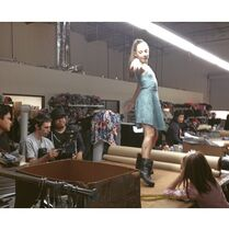 Maddie dancing on tables - dcvisions and blubot - commercial 2015-03-13
