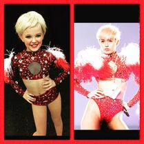 JoJo as Miley for competition - posted 2015-05-11