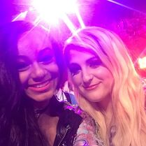 Nia and Meghan Trainor at KCA 2015