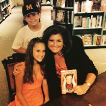 Abby Lee and Haley booksigning