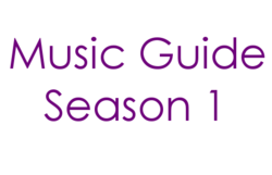 Music Guide Season 1 Century Gothic Font