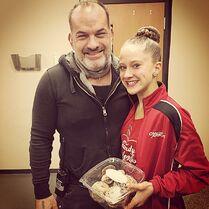 Haley Huelsman with producer Scott Shatsky - 13th birthday