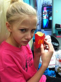 Paige with french fries
