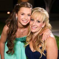 Talia Seitel with mom