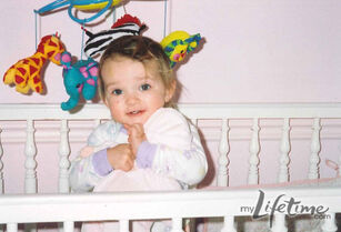 Baby kendall in crib