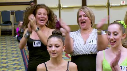 TessaW and ChloeS - with moms ReneeW and LizaS at 2015 LA auditions - bonus vid
