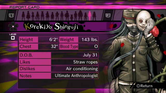 File:Danganronpa V3 Korekiyo Shinguji Report Card (Demo Version).png