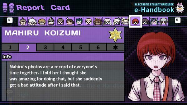 Mahiru Koizumi's Report Card Page 2
