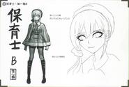 Art Book Scan Danganronpa V3 Character Designs Betas Maki Harukawa (2)