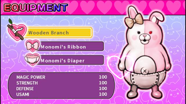 File:Danganronpa 2 Magical Monomi Minigame Equipment Menu.png