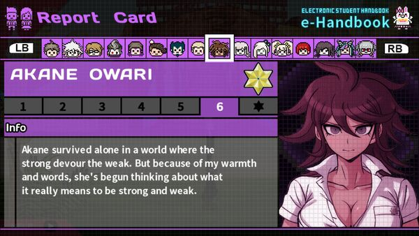 Akane Owari Report Card Page 6