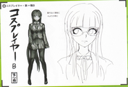Art Book Scan Danganronpa V3 Character Designs Betas Tsumugi Shirogane (2)
