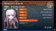 Kyoko Kirigiri Report Card Page 1