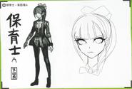 Art Book Scan Danganronpa V3 Character Designs Betas Maki Harukawa (6)