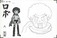 Art Book Scan Danganronpa V3 Character Designs Betas Keebo K1-B0 Ki-Bo Kiibo (1)
