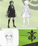Art Book Scan Danganronpa V3 Tsumugi Shirogane Designs