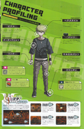 Art Book Scan Danganronpa V3 Rantaro Amami Character Profiling