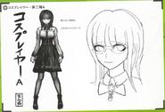 Art Book Scan Danganronpa V3 Character Designs Betas Tsumugi Shirogane (3)