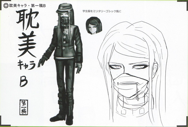 File:Art Book Scan Danganronpa V3 Character Designs Betas Korekiyo Shinguji (2).png