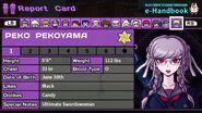 Peko Pekoyama Report Card Page 1