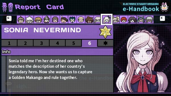Sonia Nevermind's Report Card Page 6
