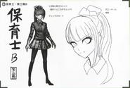 Art Book Scan Danganronpa V3 Character Designs Betas Maki Harukawa (4)