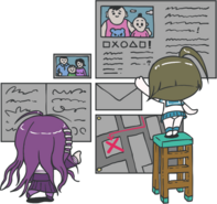 Danganronpa Another Episode Toko Fukawa Komaru Naegi Chibi 02