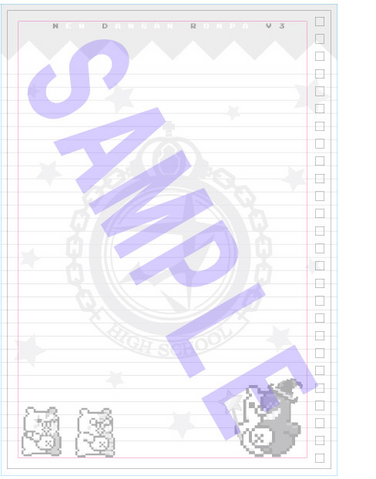 File:Danganronpa V3 Preorder Bonus Notebook Paper from Furuhon Ichiba.png