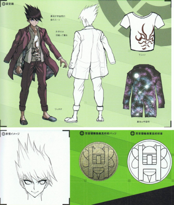 File:Art Book Scan Danganronpa V3 Kaito Momota Designs.png