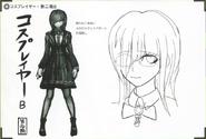 Art Book Scan Danganronpa V3 Character Designs Betas Tsumugi Shirogane (4)