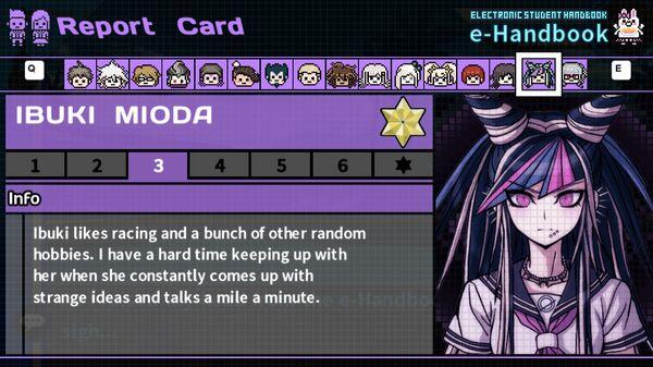 Ibuki Mioda's Report Card Page 3