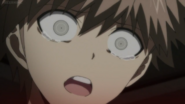 Naegi discovering Kirigiri's corpse