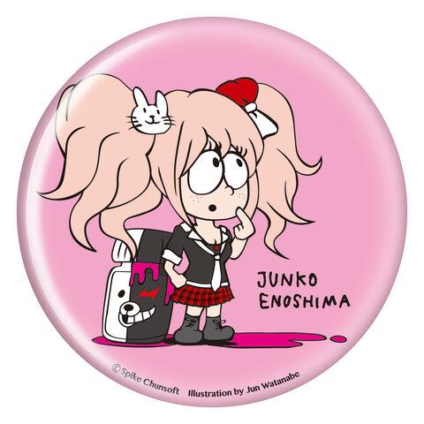 File:Danganronpa x Jun Watanabe Can Badge Junko Enoshima.jpg