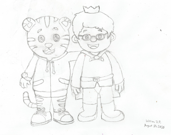 Daniel Tiger and Prince Wednesday Drawing editted