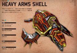 Heavy arm shell