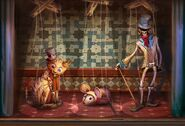 Puppet show lit