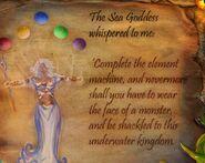 Sea goddess parchment